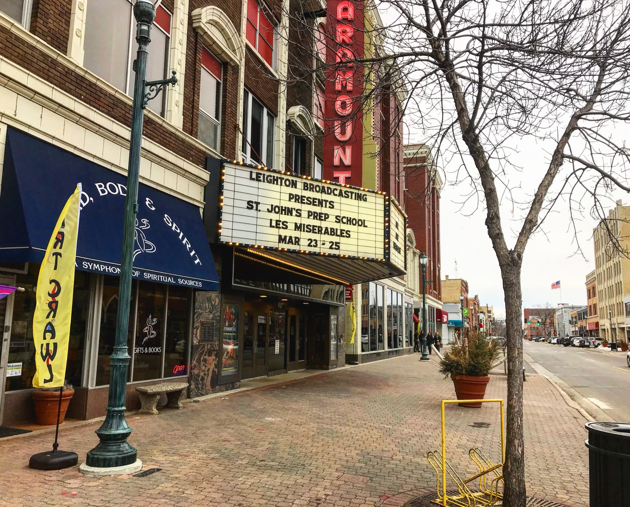 Paramount Theater marquee in Downtown, St. Cloud MN